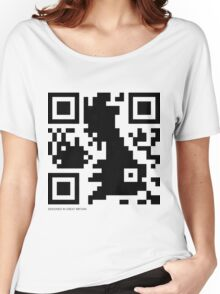 QR Code - Great Britain Women's Relaxed Fit T-Shirt