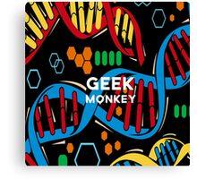 geek monkey  Canvas Print