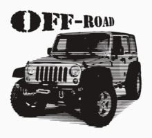 Jeep off road, Jeep Wrangler 4x4 One Piece - Short Sleeve