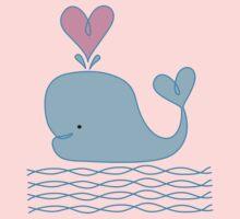 Cute Whale Baby Tee