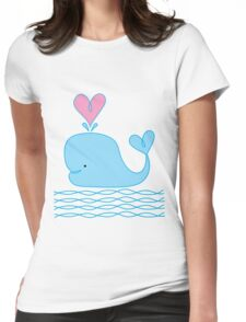 Cute Whale Womens Fitted T-Shirt