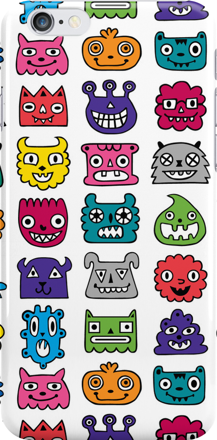 Monster Mash iphone case by Andi Bird