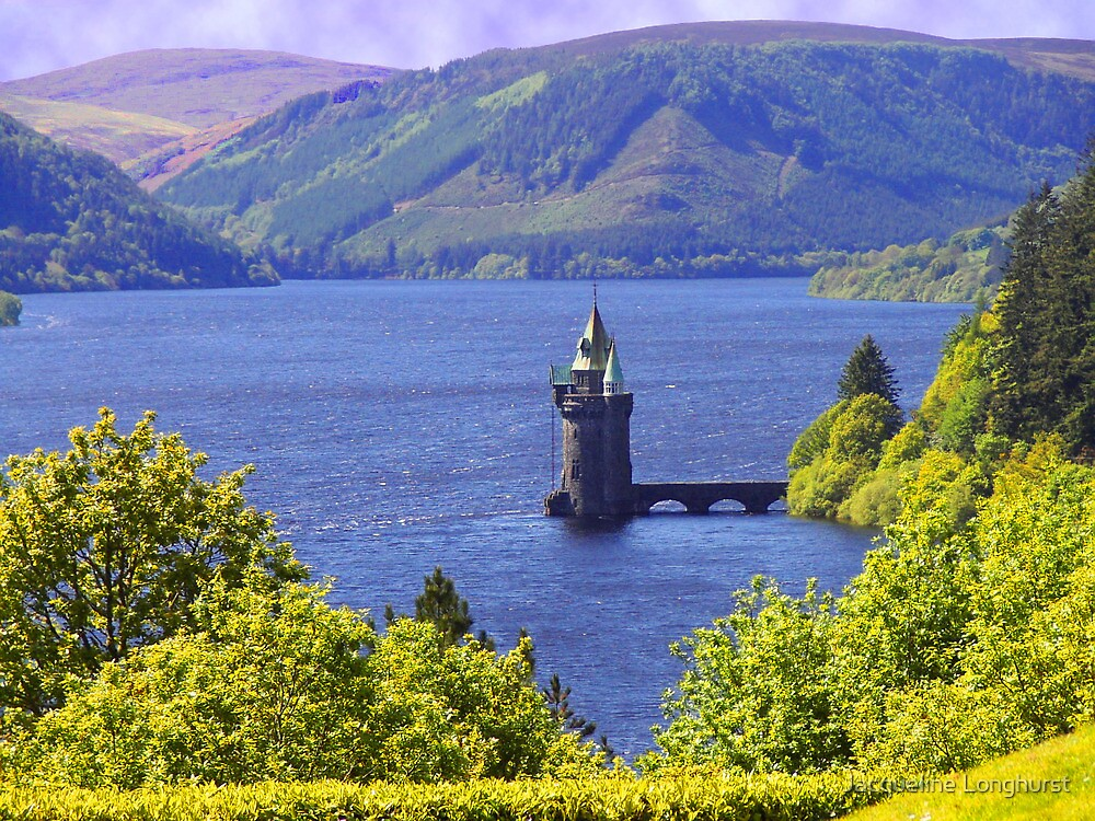 Lake Vyrnwy Water Tower Powys Wales by Jacqueline Longhurst