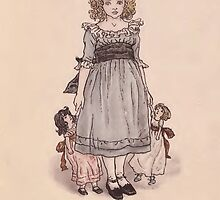 Vintage Girl with Dolls by Yesteryears