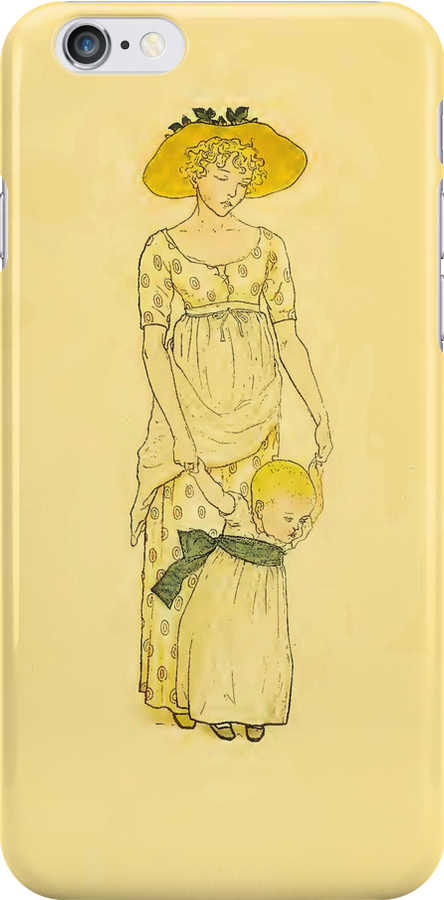 Vintage Mother and Toddler iPhone Case by Yesteryears