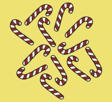 Candy Cane Pattern Kids Tee