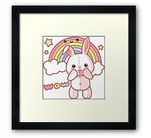 Kawaii Bunny Framed Print