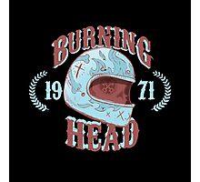 Burning Head Photographic Print