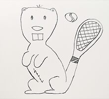Any Beaver for Tennis?  by CreativeEm
