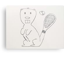 Any Beaver for Tennis?  Metal Print