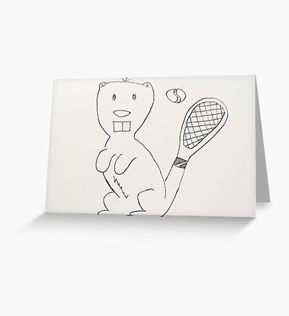Any Beaver for Tennis?  Greeting Card