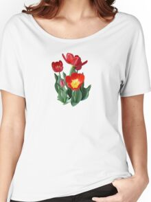 Bright Red Tulips Women's Relaxed Fit T-Shirt