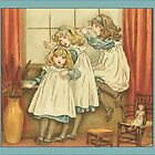 Greetings-Kate Greenaway-Three Sisters by Yesteryears
