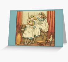 Greetings-Kate Greenaway-Three Sisters Greeting Card