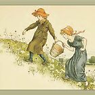 Greetings-Kate Greenaway-Jack and Jill by Yesteryears