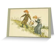 Greetings-Kate Greenaway-Jack and Jill Greeting Card