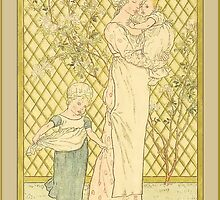 Greetings-Kate Greenaway-Mother, Infant, Toddler by Yesteryears