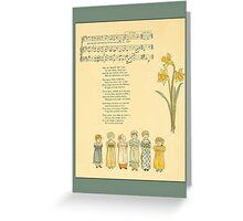 Greetings-Kate Greenaway-Merry Little Sunbeams Greeting Card