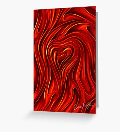Oil Painted Heart Greeting Card