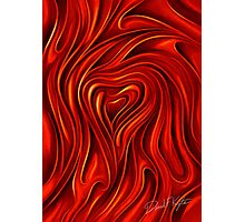 Oil Painted Heart Photographic Print