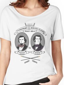 Cane Fight! Charles Sumner v. Preston Brooks Women's Relaxed Fit T-Shirt