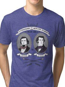 Cane Fight! Charles Sumner v. Preston Brooks Tri-blend T-Shirt