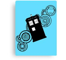 doctor who tardis r Canvas Print