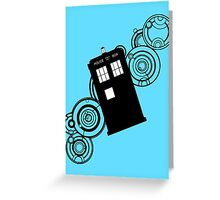 doctor who tardis r Greeting Card