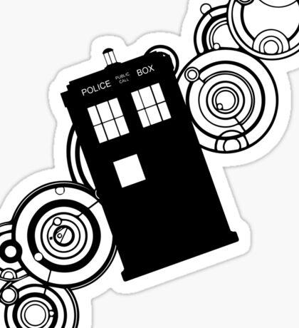 doctor who tardis r Sticker