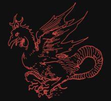 Red Dragon Shirt by Archpress