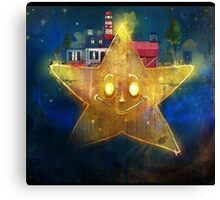Once upon a tiny star Canvas Print