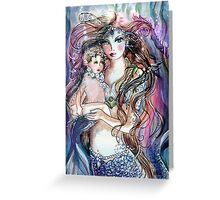 Portrait of a Mermaid Greeting Card