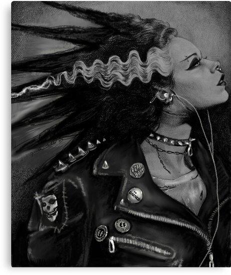 The Punk Rock Bride by SepiaDreamscape