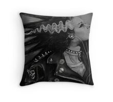 The Punk Rock Bride Throw Pillow