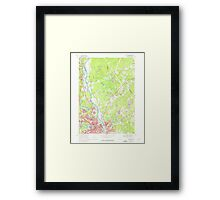 USGS TOPO Map New Hampshire NH Nashua North 329699 1968 24000 Framed Print