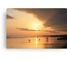 Low Tide Sunset - Hove #23 Canvas Print