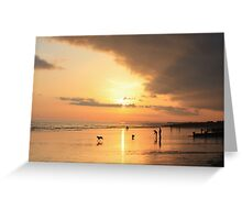 Low Tide Sunset - Hove #23 Greeting Card