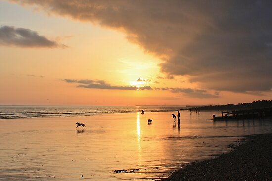 Low Tide Sunset - Hove #24 by Matthew Floyd