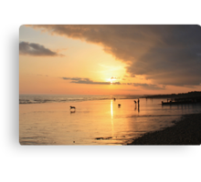 Low Tide Sunset - Hove #24 Canvas Print