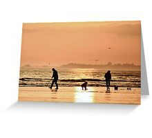 Low Tide Sunset - Hove #27 Greeting Card