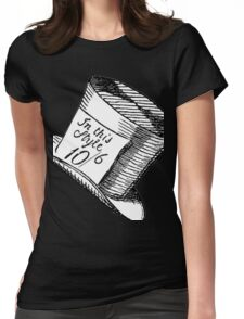 Alice in Wonderland Classic Mad Hatter Hat Womens Fitted T-Shirt