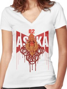 ASUKA Women's Fitted V-Neck T-Shirt