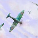 Spitfires in the Clouds by dangerpowers123