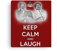 Keep Calm and Laugh! Eisenhower and Nixon Canvas Print