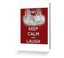 Keep Calm and Laugh! Eisenhower and Nixon Greeting Card