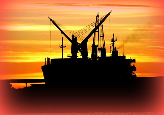 Silhouette of a fishing Vessel by Chris Chalk