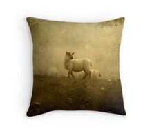 Lamb In The Mist Throw Pillow