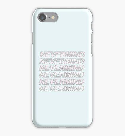 NEVERMIND Blue Phone Case iPhone Case/Skin