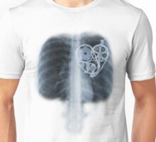 BiKE LOVE X Ray bicycle heart components Unisex T-Shirt