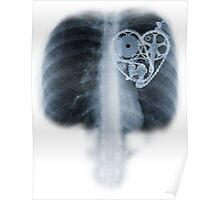 BiKE LOVE X Ray bicycle heart components Poster